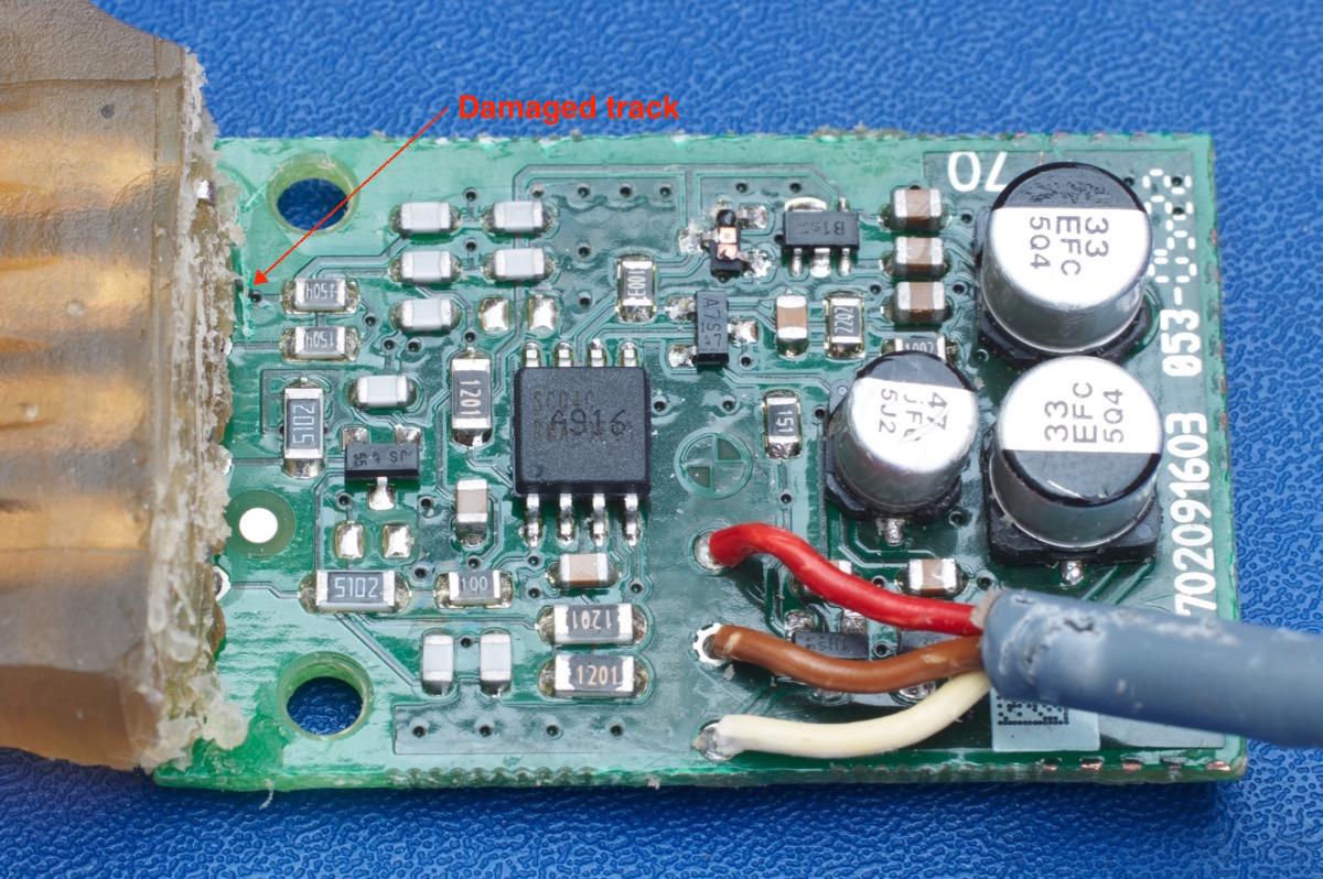 Repair of Seat Occupancy Sensor - Page 1
